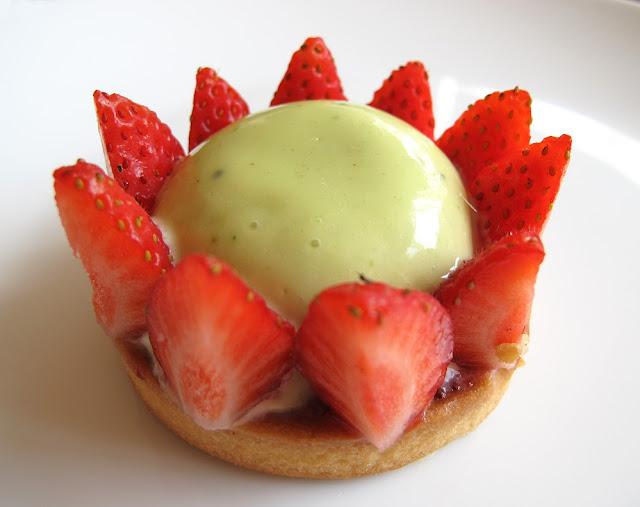 Pâtisserie Colorova Paris - Tarte fraise - pistache