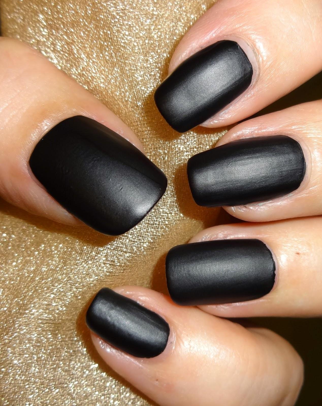 Wendy\'s Delights: Born Pretty Store Black Matte Nail Polish