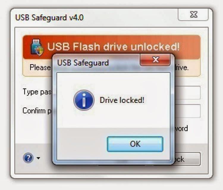 صورة من برنامج حماية الفلاشات  USB Safeguard 7.2