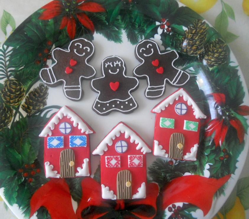 Casetta Di Natale In Pasta Di Zucchero : Profumo di zucchero sweets by sonia biscotti natalizi decorati