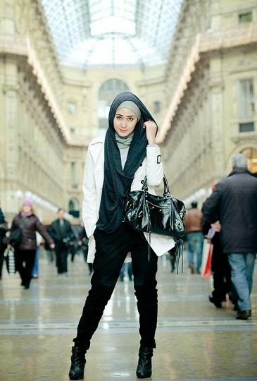 Cara Memakai Hijab Funky