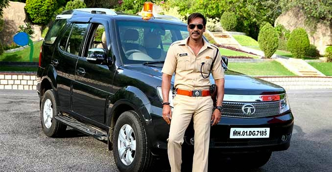 Ajay devgn with safari car wallpaper in singham returns