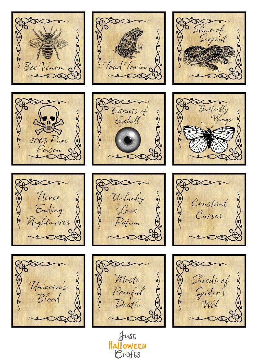Genius image inside printable potion labels