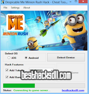 Despicable Me Minion Rush Hack - Cheat Tool v1.1 (Updated 2014)