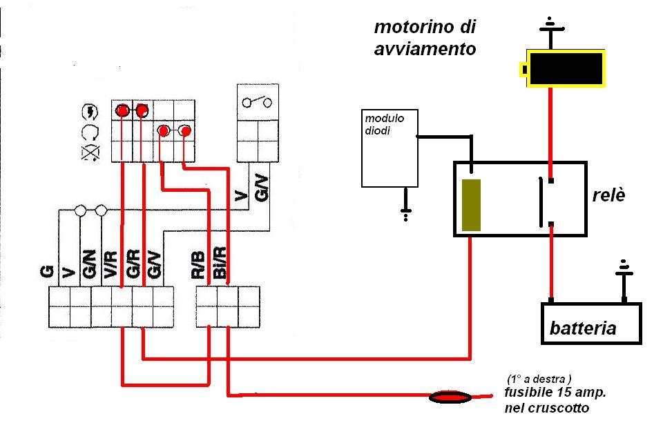 Schema Collegamento Motorino Tergicristallo : Relè di avviamento