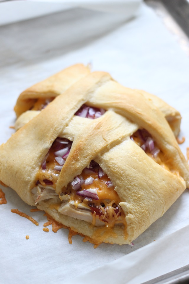 Barbecue Cheddar Crescent Baskets