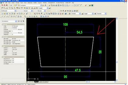 Langkah simple dalam membuat bentuk dengan menggunakan line, offset , fillet, erase