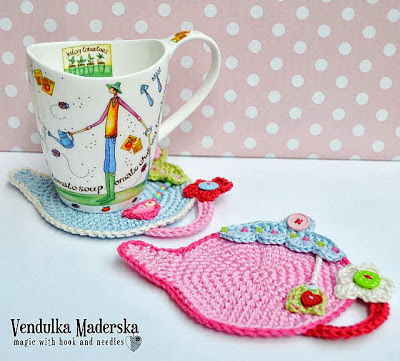 Crochet teapot coaster