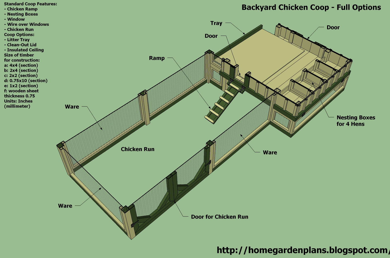 Dewa coop topic chicken coop plans 6 chickens for Free coop plans