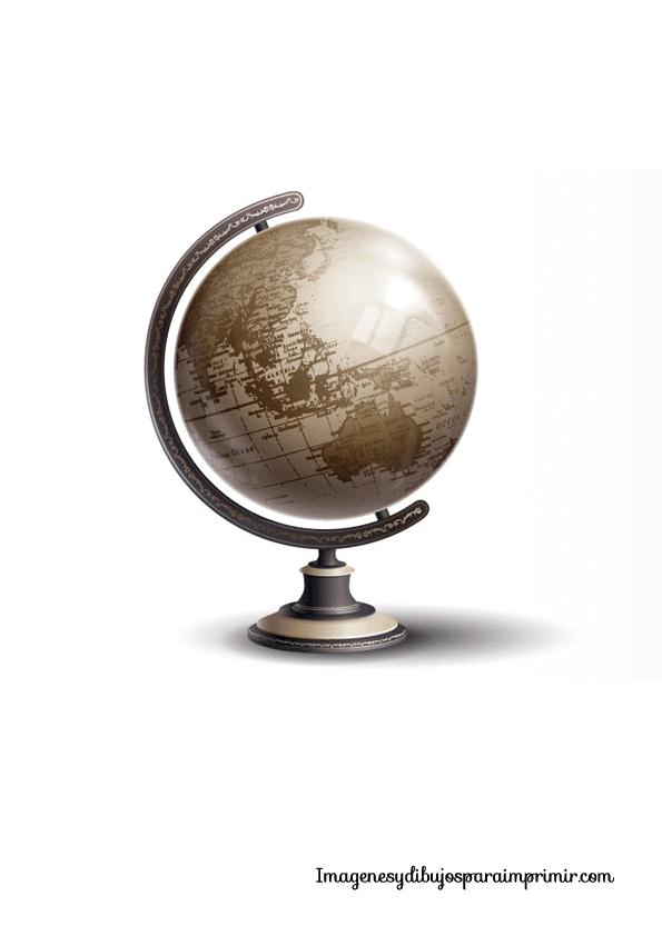 Bola del mundo para imprimir