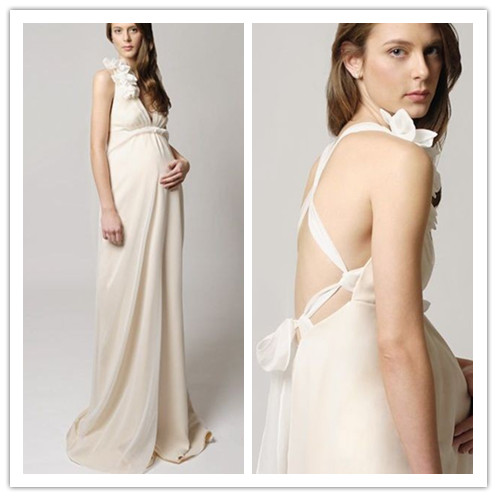 Maternity Wedding Dress on Maternity Dresses  Cheap And Beautiful Long Maternity Wedding Dresses