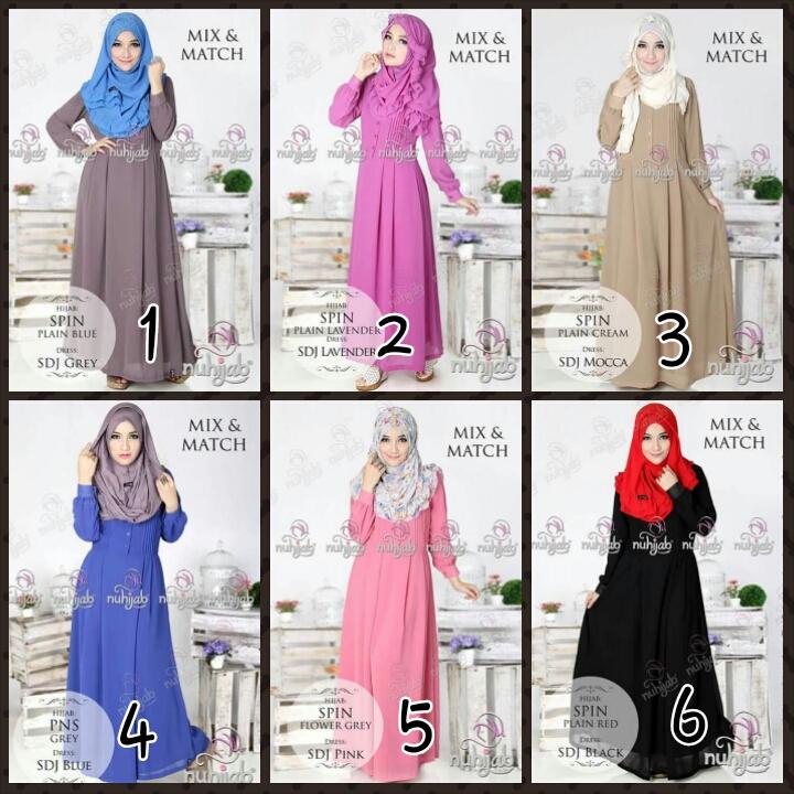 Nuhijab Sifon Dress Jameela (Toko Jilbab dan Busana Muslimah Terbaru)