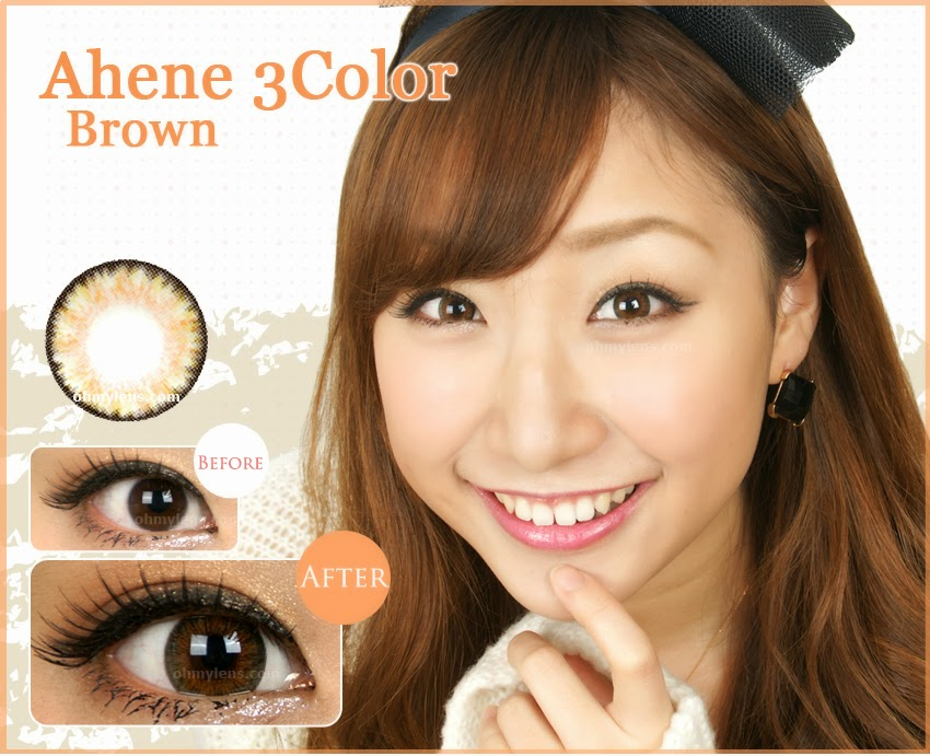 Ahene 3 Color Brown Contact Lenses for Farshightedness / Hyperopia