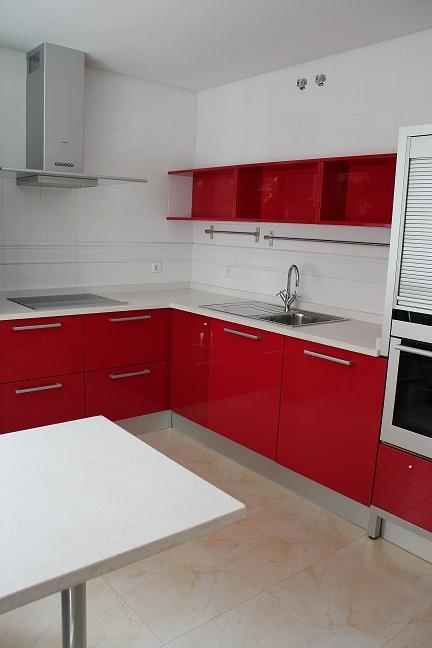 DISEÑO Y DECORACIÓN DE COCINAS: Diseño de cocinas - cocina roja en ...