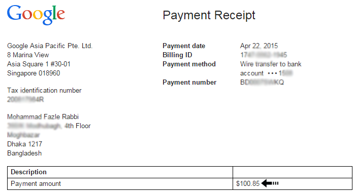 Doc750476 Payment Received Receipt 18 Payment Receipt – Receipt of Payment Example
