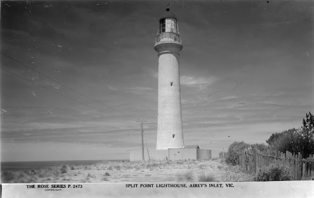 SPLIT POINT LIGHTHOUSE, AIREY'S INLET, VIC-Rose Stereograph Co-SLV