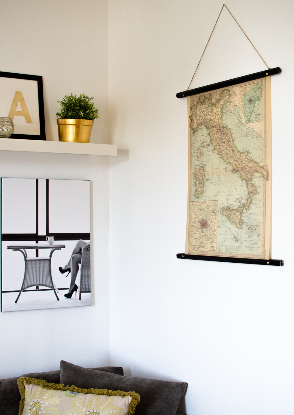 DIY Scroll Style Picture Frames - House of Jade Interiors Blog