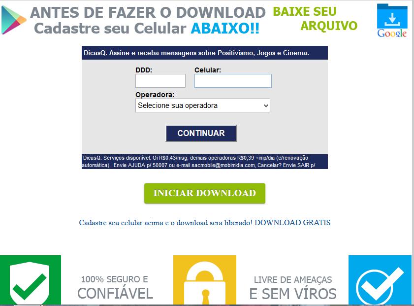 SIGA O TUTORIAL - NAO CADASTRE CELULAR PARA FAZER DOWNLOAD - 13-03-2015