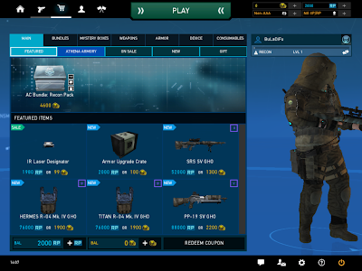 Ghost Recon Online - Store Main