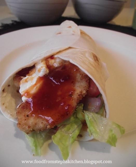 Crispy chicken and sweet chilli wraps - Steph's Kitchen