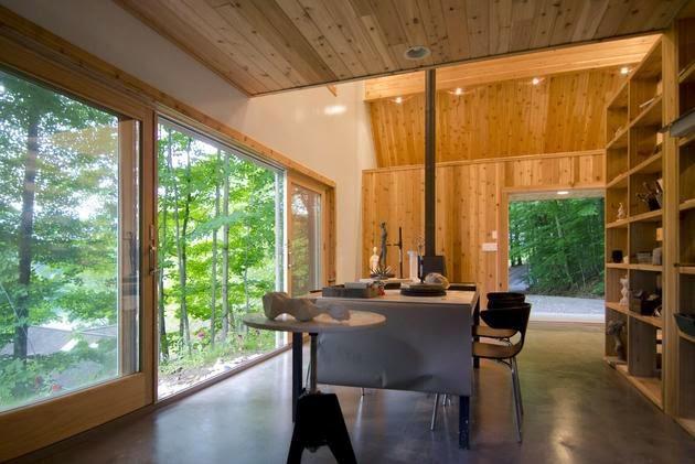 Mengapa membuat bangunan yang terpisah untuk fungsi yang berbeda kalau kita sanggup menyatuk Rancangan Inspirasi Rumah Kecil Bertema Studio