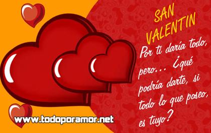 Imágenes de amor con frases para San Valentín