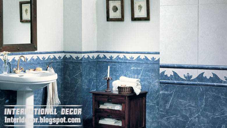 Classic Wall Tiles Scheme, Blue Bathroom Wall Tiles Design Part 61