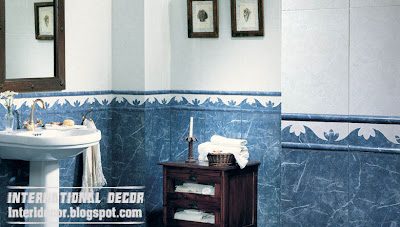classic blue wall tiles for bathroom blue ceramic tiles design Classic wall tiles designs, colors,schemes bathroom ceramic tiles