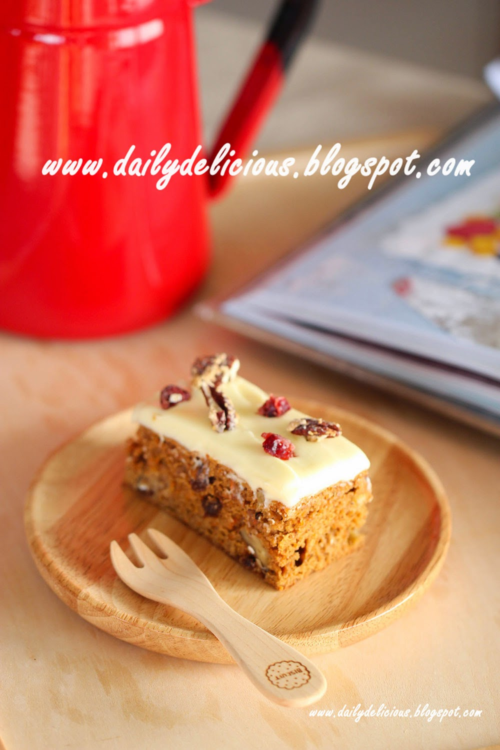 Low Fat Carrot Cake With Applesauce