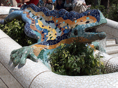 barcelona gaudi parc guell