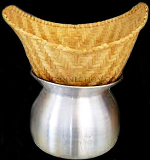 Image of sticky rice cooker (steamer) - bamboo basket