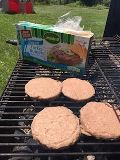 Grilling Turkey Burger