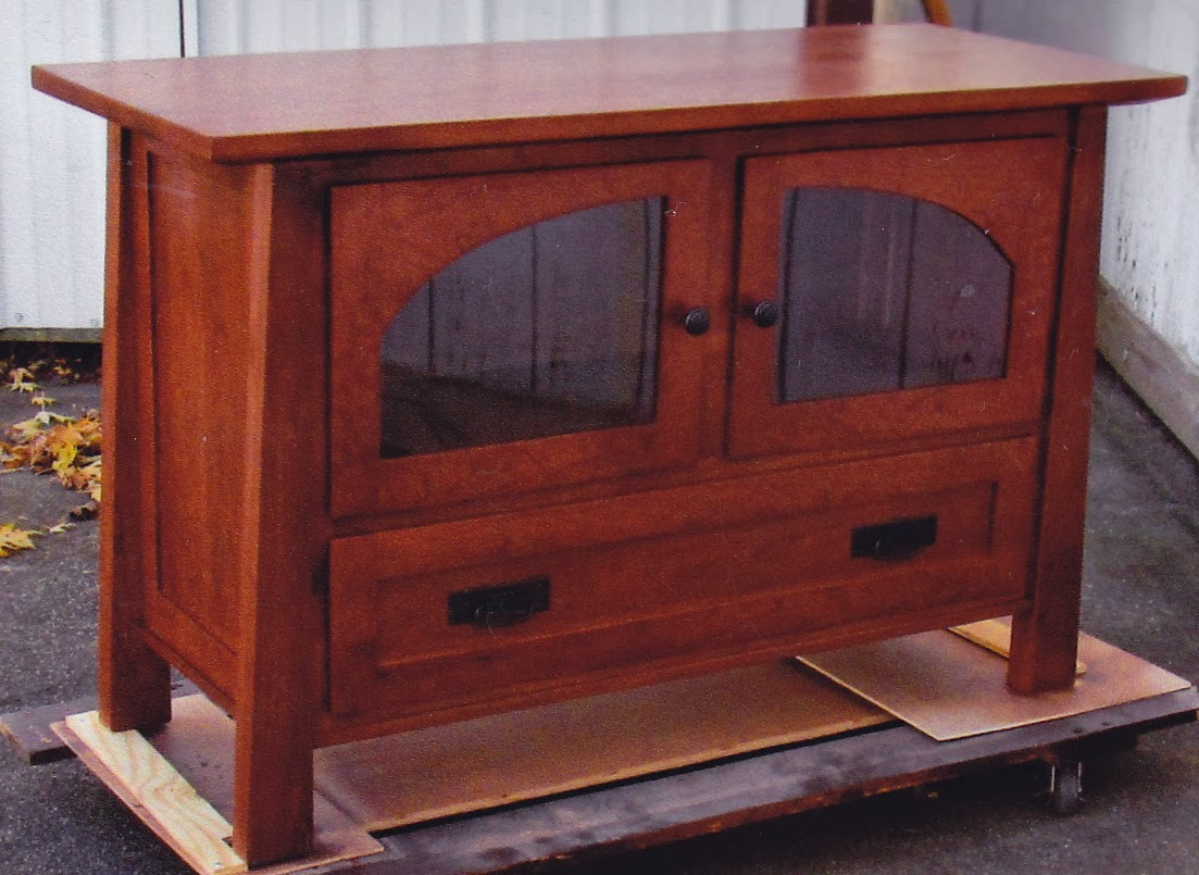 ... These Two Mission Style TV Stands, Can Be Custom Ordered To Size With  Your Choice Of Lumber And Hardware. The Cabinet And Drawer Are Prefect For  Holding ...