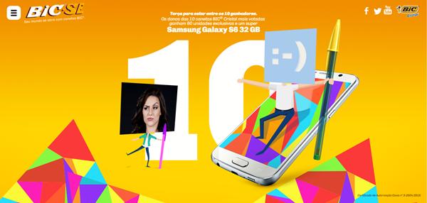 Promoção Bic-se: Concorra a um Galaxy Samsung Galaxy S6