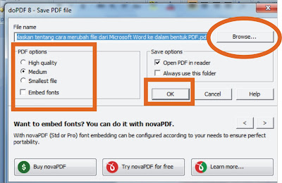 Merubah documen word ke PDF