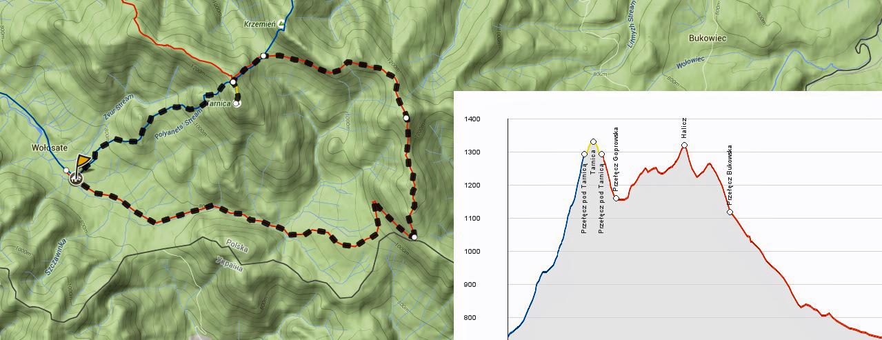 Mapa Trasa Tarnica