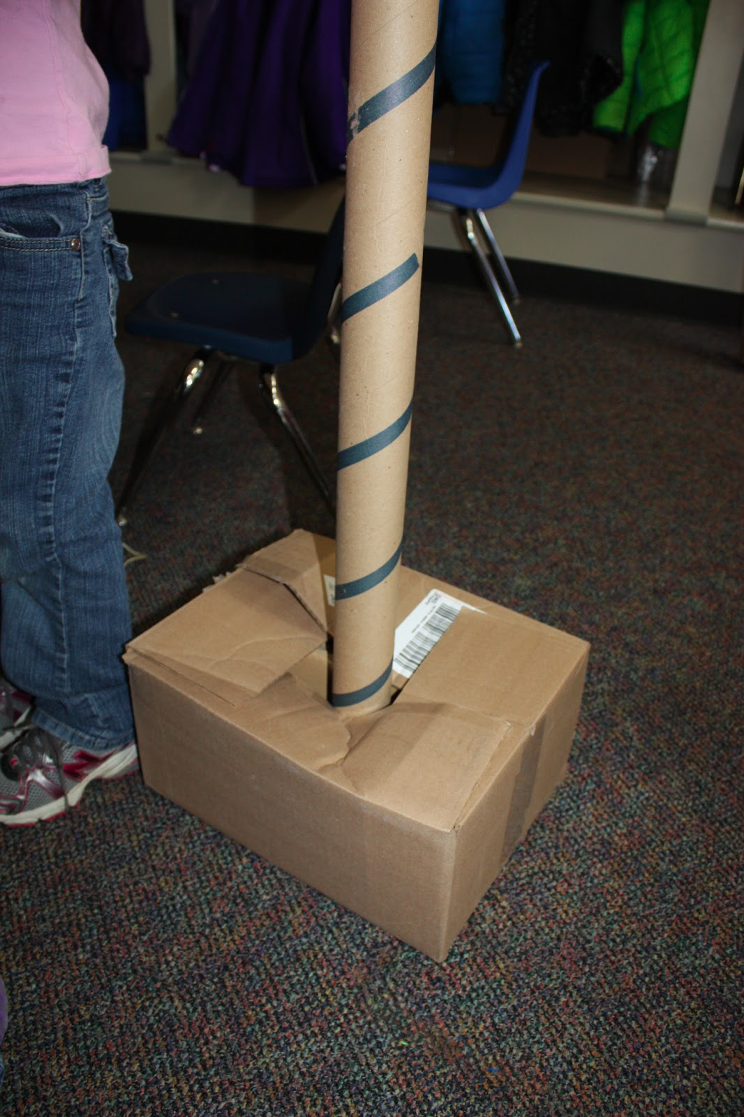Simple Machine Pulley Flagpole