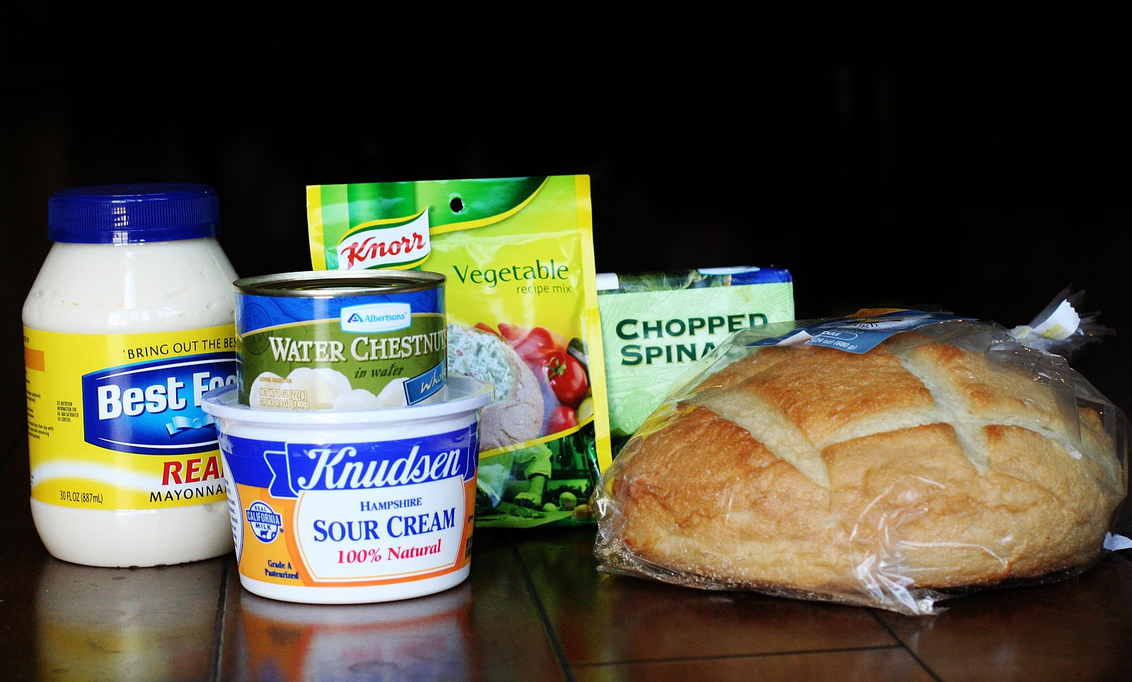 Attractive Knorr Vegetable Dip #1: Spinach+dip+ingredients.jpg