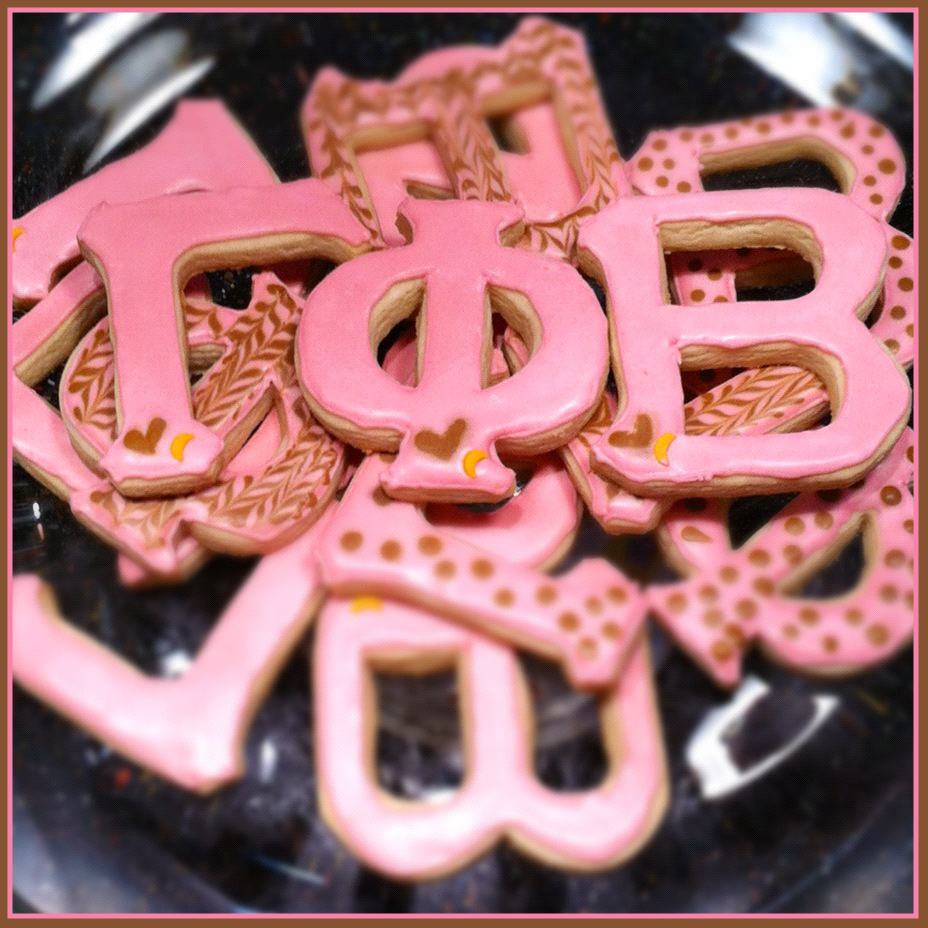 Gamma phi beta cookies these are not the prettiest cookies and they