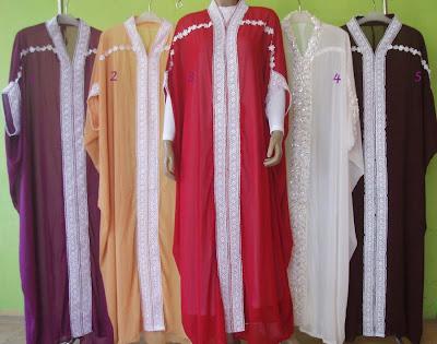 Gambar Model Trend Baju Muslim Wanita Lebaran 2012