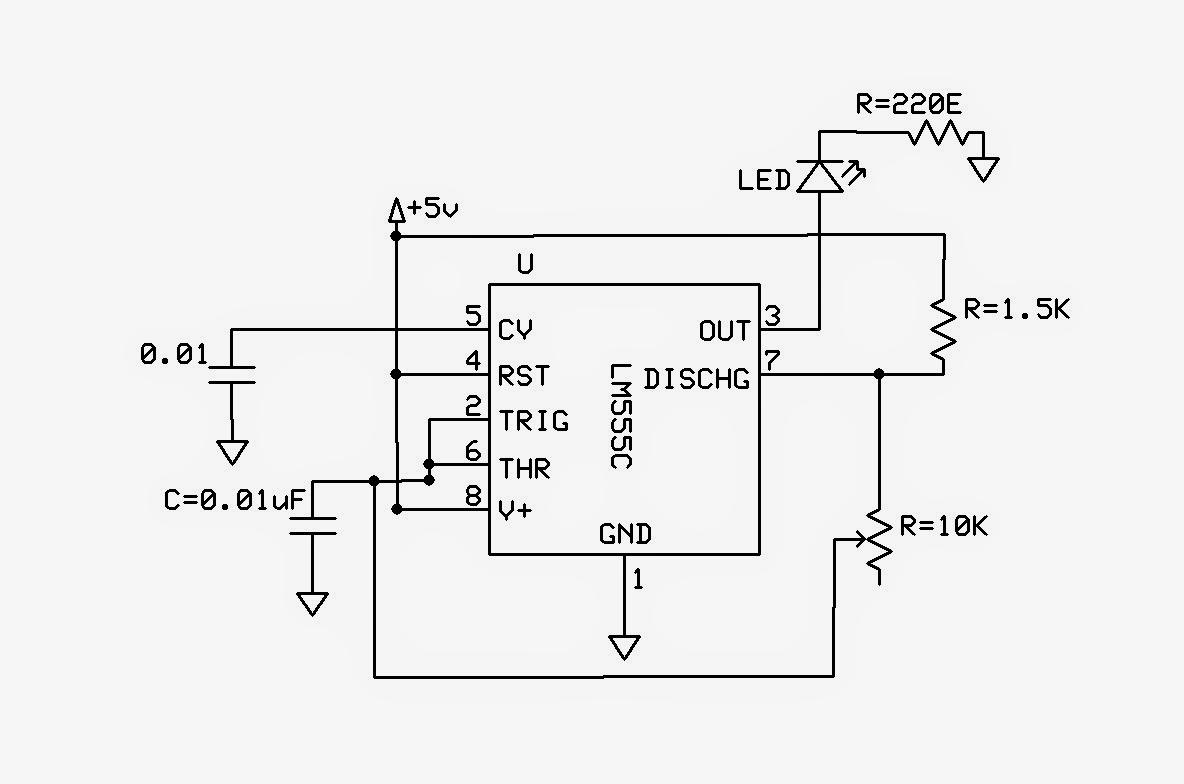 Emerging Technologies 555 Astable Circuit Diagram