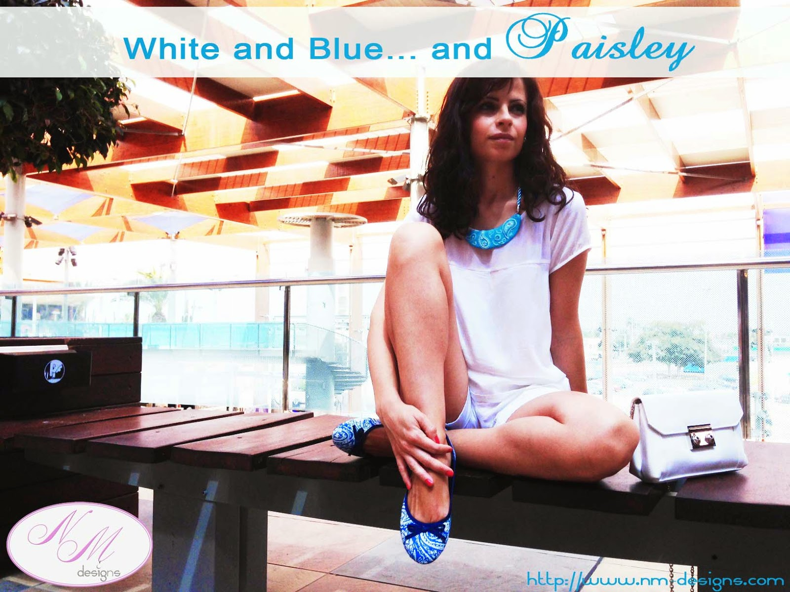 White and Blue... and Paisley
