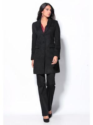 abrigo negro Venca
