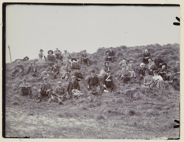 On the Double Dykes, Hengistbury Head. GA Swanage Excursion, May 17th 1910.