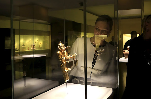 Crown Princess Victoria of Sweden and Prince Daniel of Sweden visited the Gold Museum