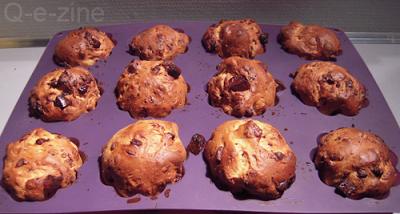 brioches aux pépites de chocolat