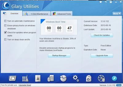 Get Free Glary Utilities Pro 3  versi 3.3.0.112