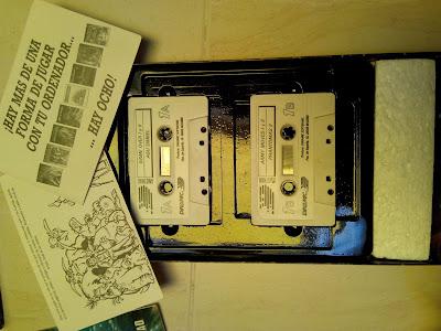 Las dos cintas con el software