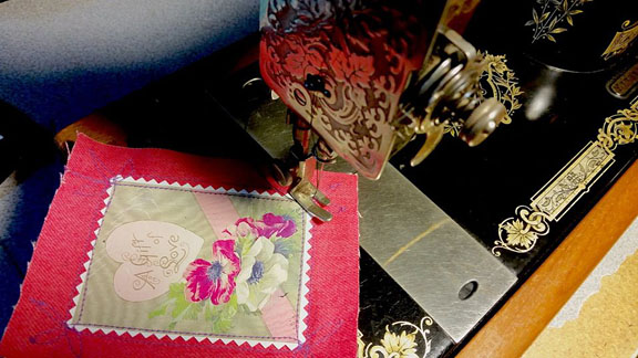 Make a vintage Valentine at Sew Cranky!
