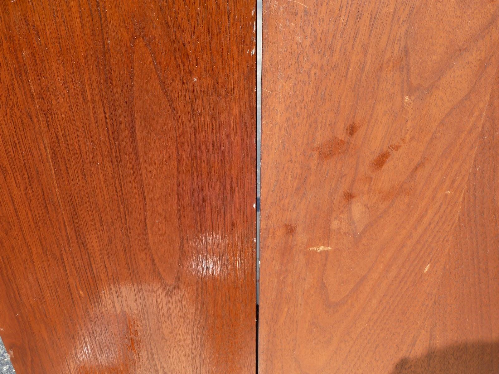Sanded walnut veneer polished unpolishedSpeaker Repairs Part 2  Sealing and Protecting  Vintage Speaker  . Restoring Old Speaker Cabinets. Home Design Ideas